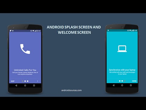 Android splash screen and welcome screen tutorial using for Android wallpaper 5 home screens