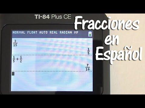 Fracciones en la Calculadora TI84 Plus CE en Español