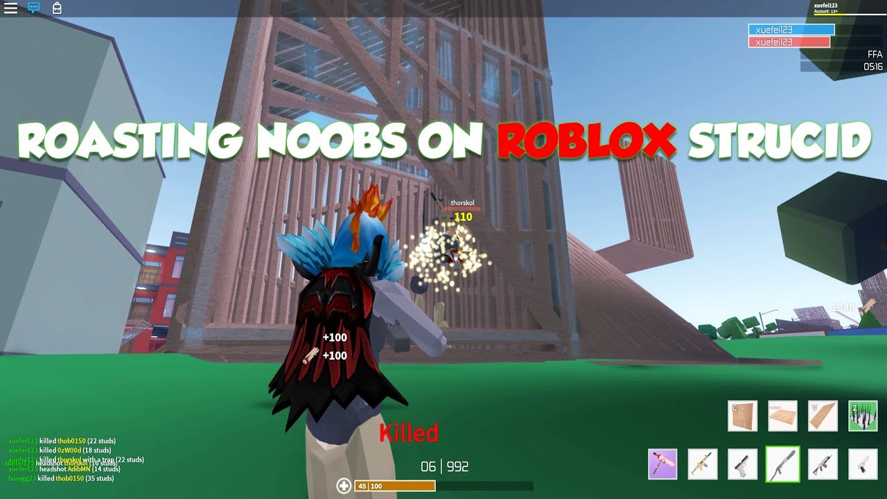 ROASTING NOOBS ON STRUCID - Roblox Gameplay #3 (Pro player ...