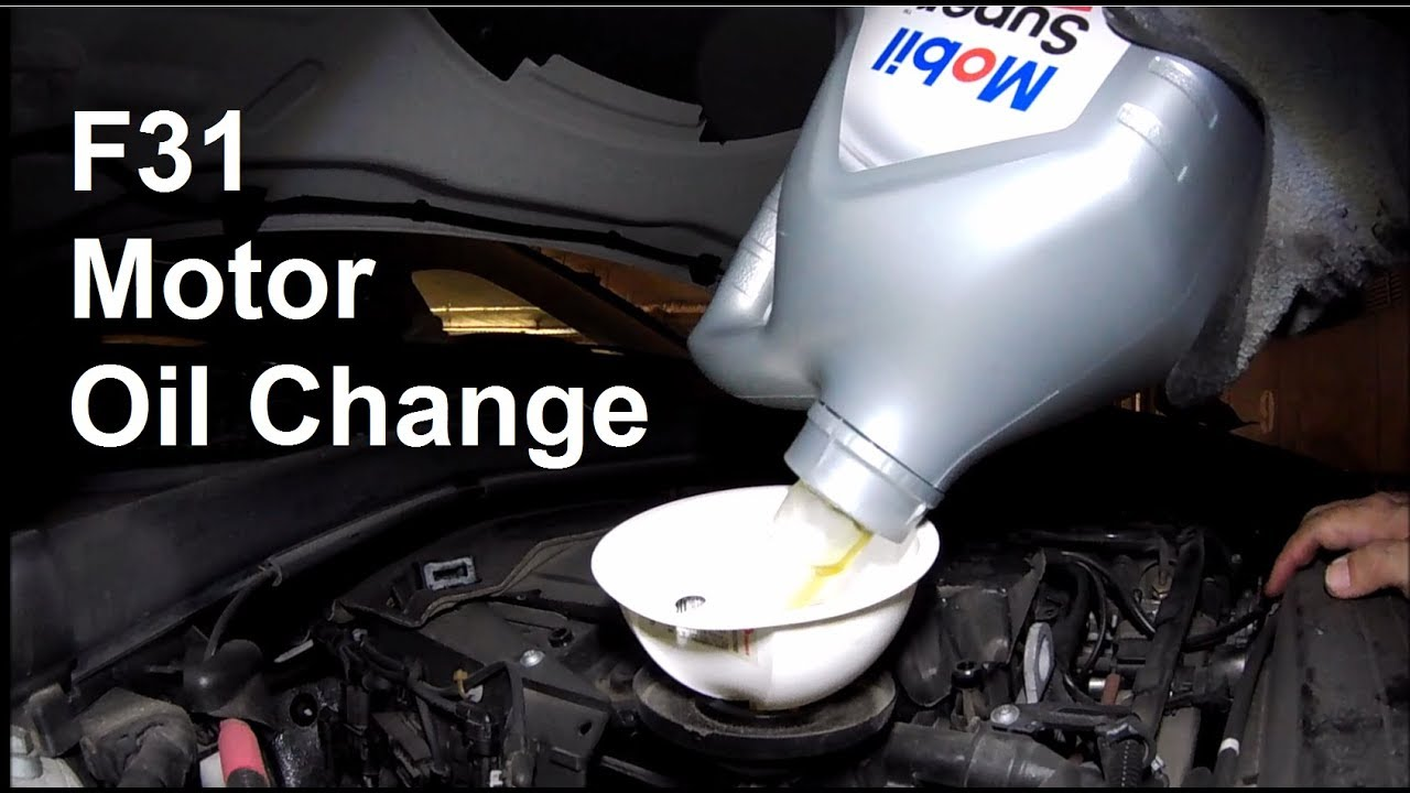 Bmw 3er Touring F31 öl Wechseln Oil Change Youtube