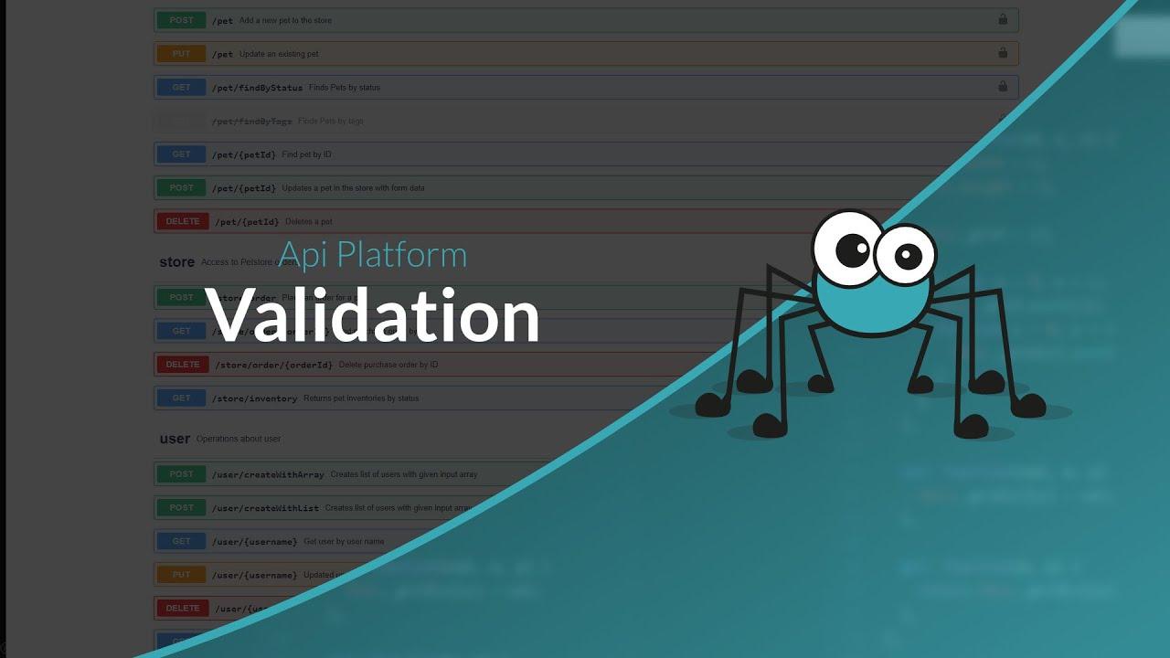 Découverte d'API Platform : La validation