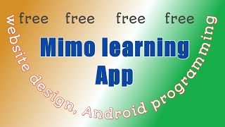 MIMO App review    learn web design    Android apps programming    cybersecurity