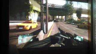 crysis 2 gameplay with projector