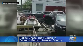 Wild Police Chase In Queens