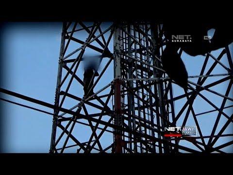 Ibu Muda Panjat Tower Setinggi 30 Meter - NET. JATIM Mp3
