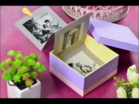 Craftolog a c mo hacer un lbum de fotos original scrapbook diy youtube - Album para guardar fotos ...