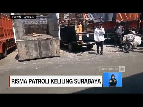 Risma Patroli Keliling Surabaya
