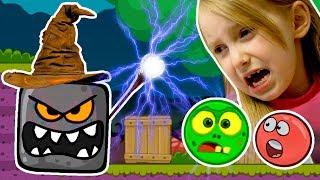 Новый Злой Черный Квадрат Превратил Красный Шарик и Серый Шарик в Зомби Мультик Игра для Детей