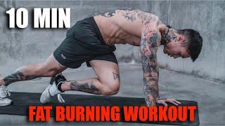 10 Min Fat Burฑing Workout | No Equipment