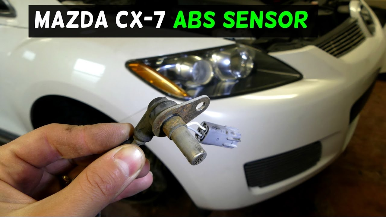 mazda cx 7 cx7 front abs sensor replacement removal youtube. Black Bedroom Furniture Sets. Home Design Ideas