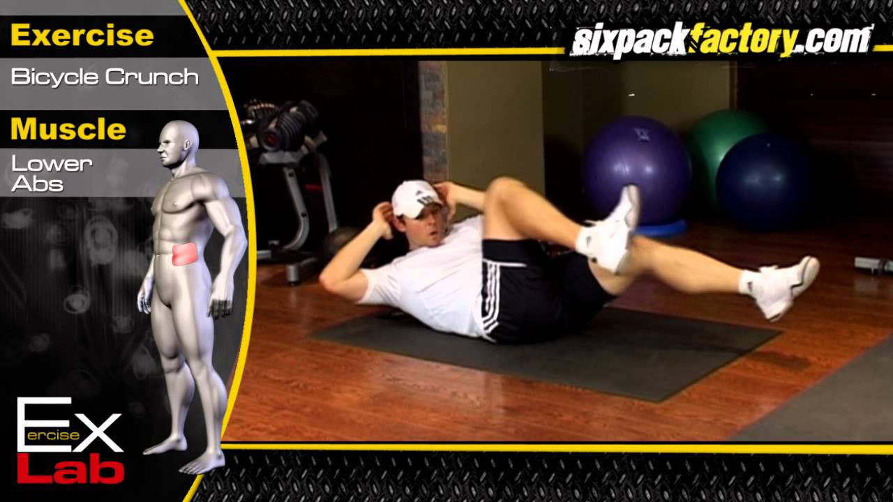 Bicycle Crunch : Best Oblique Exercises ( Side Abs )