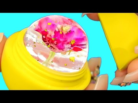 DIY EOS FLOWER JELLY LIPSTICK! Flower Raindrop Cake EOS