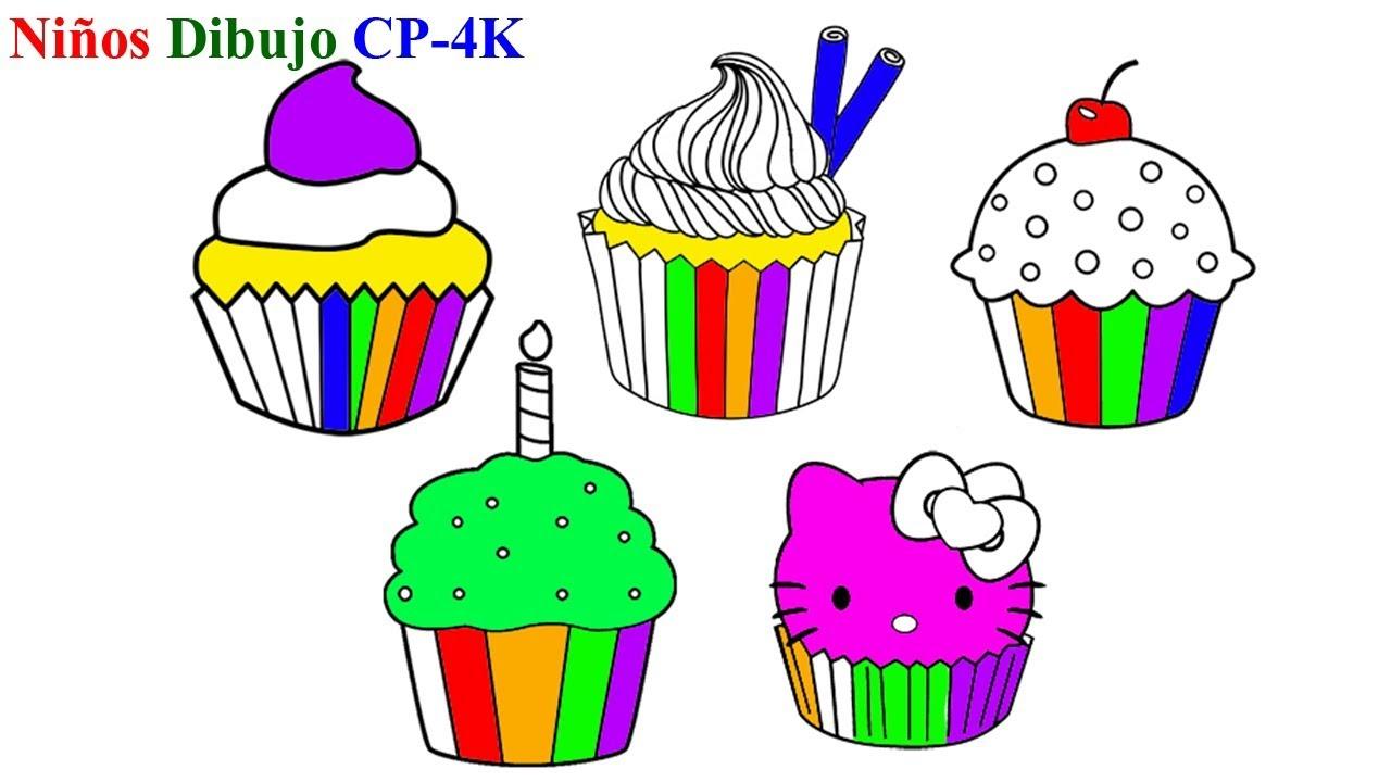 Cómo Dibujar Libro Para Colorear Pastel Para Niños: Pastel De Hadas Para Colorear