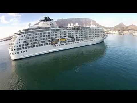 Drone of The World Passanger ship Docking - Cape Town - South Africa.