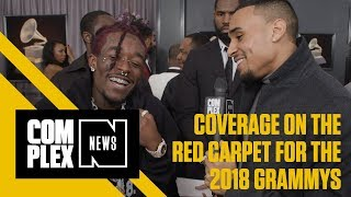 Logic, Rick Ross & More Pull Up to the Red Carpet of the 60th Annual Grammy Awards