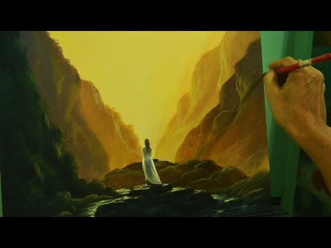 Acrylic Landscape Painting Lesson | Waiting in Step by Step Acrylic Tutorial by JM Lisondra