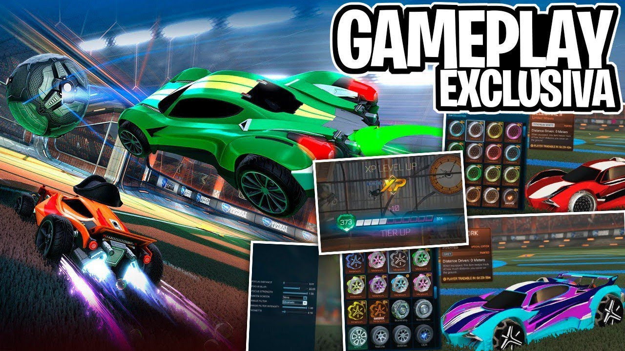 GAMEPLAY DOS ITENS DO ROCKET PASS 3, DESAFIOS E REPLAY FX! - Rocket league