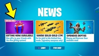*NEW* Gifting System Has Been *UPDATED NOW* (Fortnite Battle Royale Leaks v5.3) Release Date