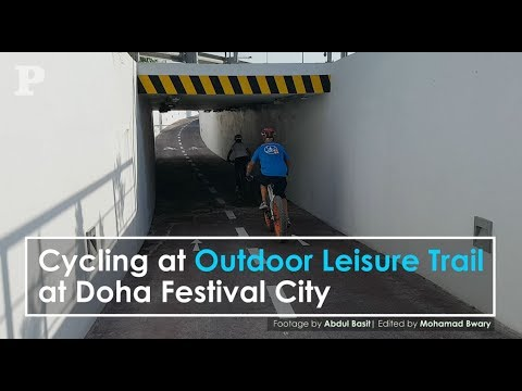 Cycling at Outdoor Leisure Trail at Doha Festival City