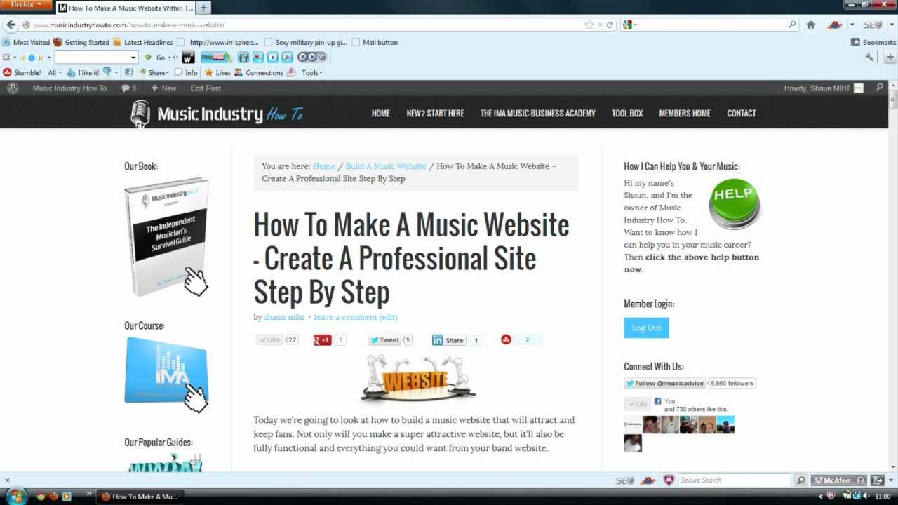 How To Make A Music Website - Create A Professional Site