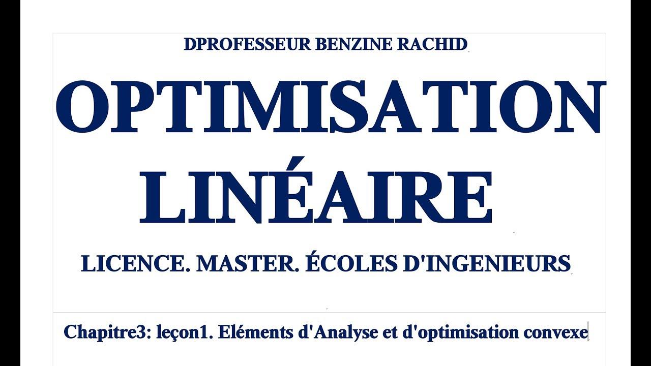optimisation et analyse convexe