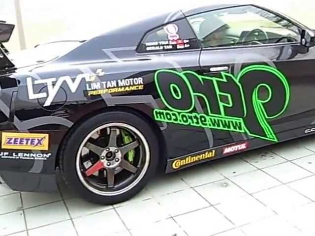 9TRO Nissan GT-R R35 At Mean Machine Melaka 2013 Travel Video