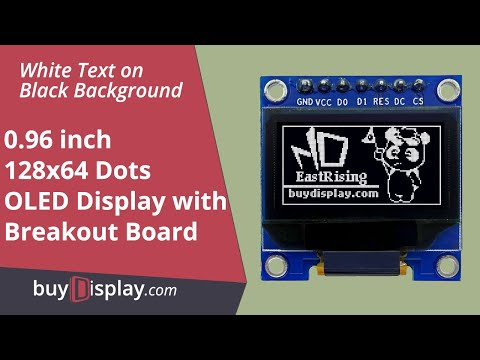 "Connect White SPI I2C 0.96"" OLED Display Module to Arduino and Raspberry Pi"
