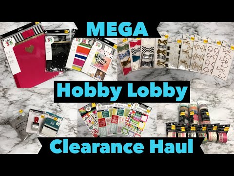 Hobby Lobby: 75% Off Clearance Haul: The Happy Planner,  MAMBI Stickers, The Paper Studio Washi Tape
