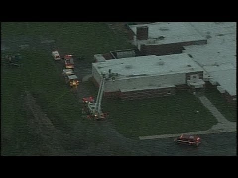 Firefighters battle fire at Cory Elementary School