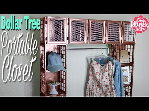 Dollar Tree Diy Portable Crate Closet Youtube