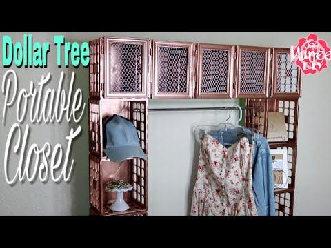 Dollar Tree DIY Portable Crate Closet  YouTube