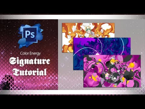 Color Energy - Photoshop Tutorial - Signatures/Tags thumbnail