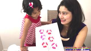 Kids craft idea | thumb painting | water bottle painting | bottle cap painting with Sefu Play Time