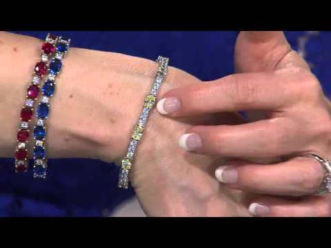 The Elizabeth Taylor Simulated Canary Diamond Tennis Bracelet with Mary Beth Roe