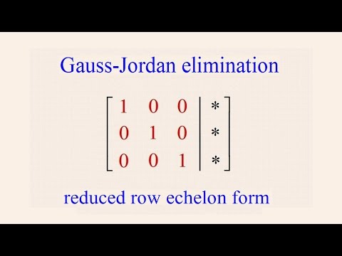 Alge 55 - Gauss-Jordan Elimination - YouTube Mathway Gauss Jordan on