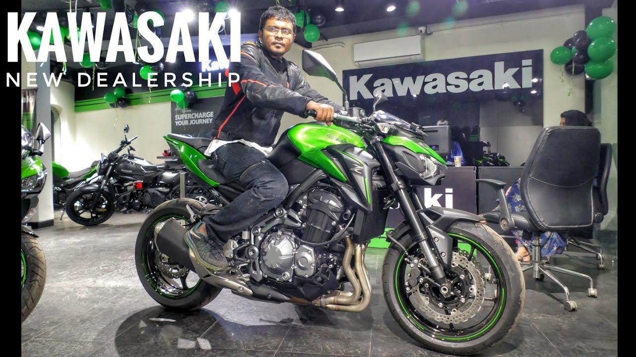 New Kawasaki Dealership Opens In Kolkata Feat Z900 Ninja 650