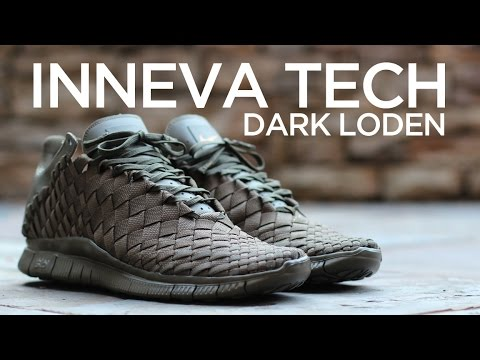 los angeles 0cab4 e57bd ... Closer Look Nike Free Inneva Woven Tech SP - Dark Loden ...