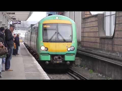 Trains at East Croydon 11/03/17
