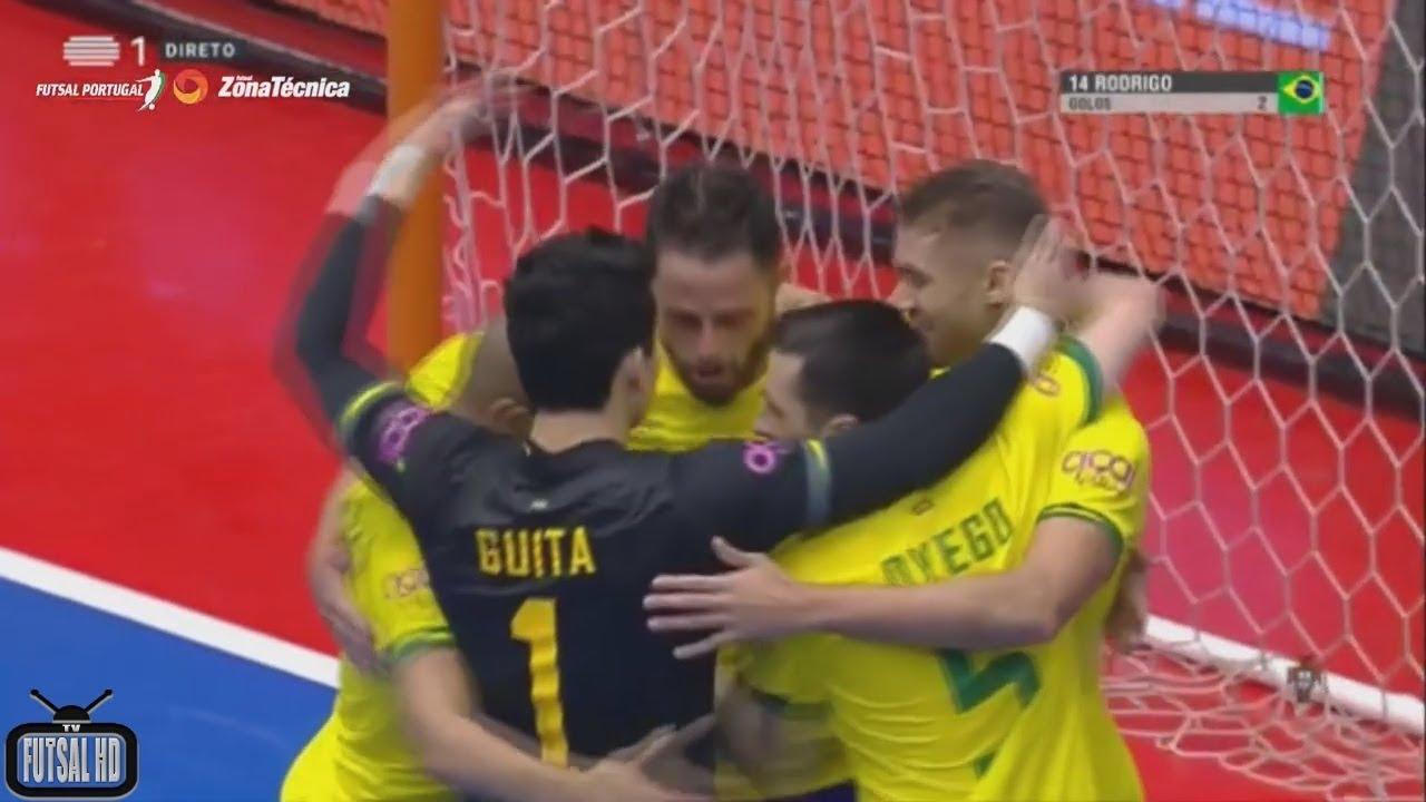 Jogo Completo Portugal 1x6 Brasil - Amistoso Internacional de Futsal 2019 (30/01/2019)