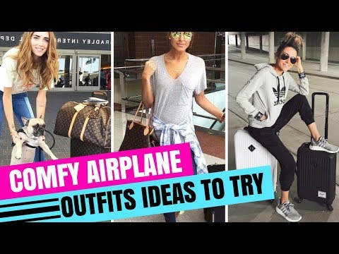 TRAVEL OUTFITS IDEAS | WHAT TO WEAR ON A PLANE | AIRPORT LOOKBOOK