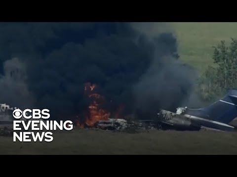 NTSB investigating Houston jet crash and fire