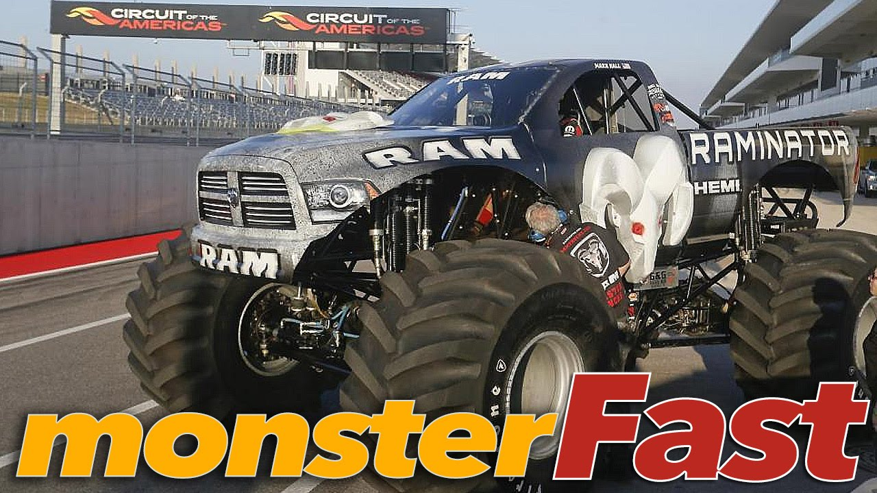The World S Fastest Monster Truck Raminator Youtube