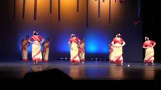 "Pratidhwani, Colors of India,  Bangla folk Dance, ""Aaj Jibon Khuje Pabi"""