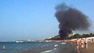 пожар на побережье г. Сиде в Турции.AVI