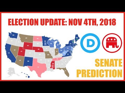 The 2018 Senate Elections As Of November 4th, 2018