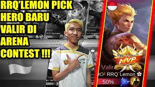 Video WOW !!! RRQ'Lemon Pick Hero Baru Valir di Arena Contest !!! INDONESIA VS TAIWAN MLBB download MP3, 3GP, MP4, WEBM, AVI, FLV Juli 2018