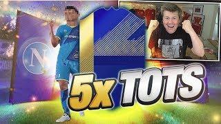 5x TOTS!!! MÓJ OSTATNI PACK OPENING?!  FIFA 18
