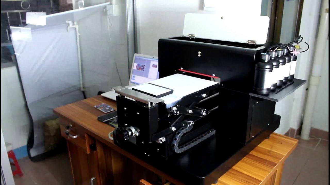 Smallest UV Printer A4 Mini LED UV Flatbed Printer Support White ink  Printing
