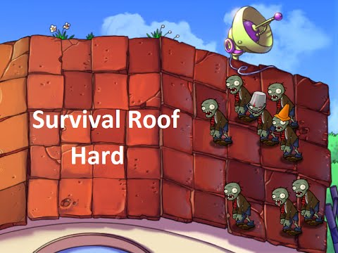 Plants Vs Zombies Survival Roof Hard Youtube