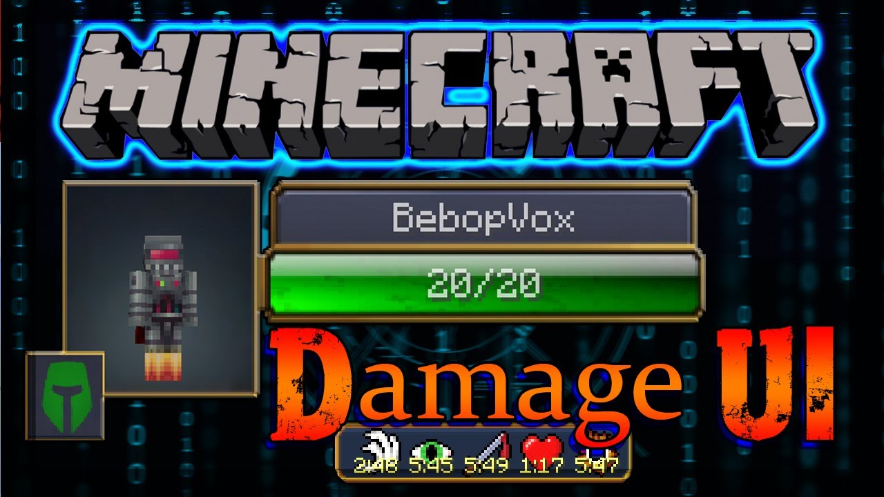 Minecraft: RPG Damage UI Mod